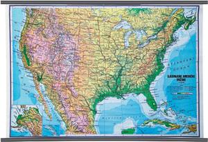 Karta Sjedinjene američke države, fizička 1:4 500 000