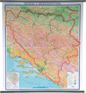 Karta Bosna i Hercegovina, fizička 1:300 000