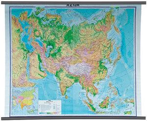 Karta Azija, fizička 1:10 000 000