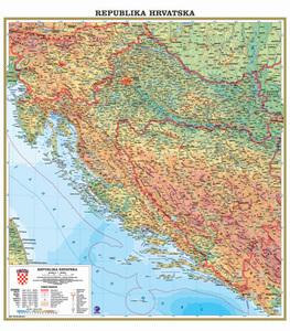 Karta Republika Hrvatska, fizička 1:500 000