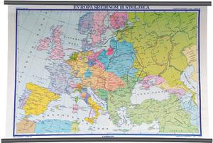 Karta Europa sredinom 18. stoljeća