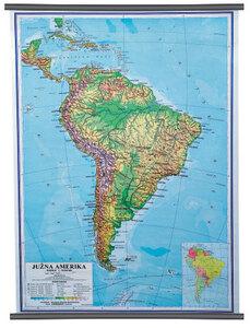 Karta Južna Amerika, fizička 1: 10 000 000