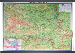 Karta Istočna Hrvatska, fizička, 1:130 000