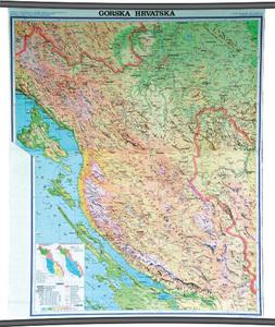 Karta Gorska Hrvatska, fizička 1:130 000