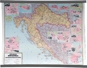 Karta Republika Hrvatska - izbor hrvatskih kulturno - povijesnih spomenika