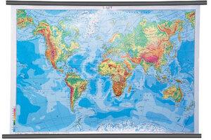 Karta Svijet, fizička 1:40 000 000, plastificirana