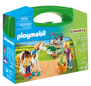 Playmobil koferić njegovanje konja 9100