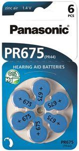 PANASONIC baterije PR675LH/6LB, Zinc Air