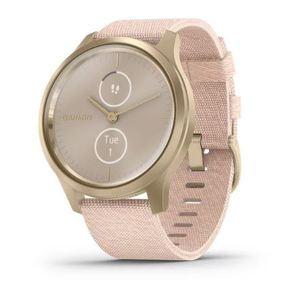 Garmin Vivomove Style, Light Gold Blush Pink nylon, pametni sat