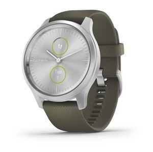 Garmin Vivomove Style Silver Moss, srebrni okvir sa zelenim remenom, pametni sat