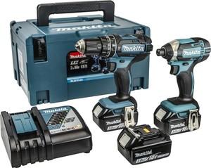 MAKITAakumulatorskisetDLX2131JX1 (DHP482,DTD152,DC18RC,BL1830Bx3) u Makpac koferu