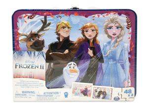 Frozen 2 lentikularne puzzle u limenci 48 kom