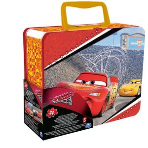 Cars 3 lentikularne puzzle u limenoj kutiji 24 kom