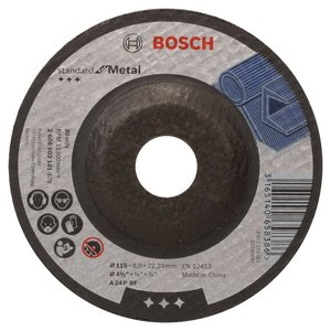BOSCH Standard for Metal brusna ploča, savijena