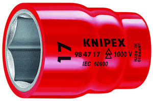 KNIPEX nasadni ključ 1/2'' 17mm 1000v