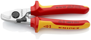 KNIPEX škare 165mm za kabele s povrat. oprugom vde 50mm2/fi15mm