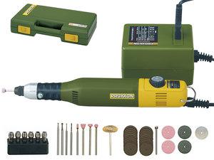 PROXXON set za modeliranje i graviranje (komplet sa MICROMOT bušilicom/brusilicom 50/E, adapterom napajanja i kompletom od 34 zubarski kvalitetna bit-alata i noža)