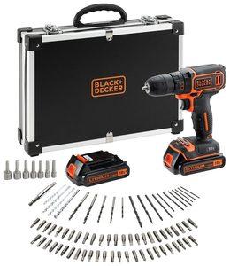 BLACK & DECKER set akumulatorska bušilica i pribor 18 V - 2 akumulatora i 80 dijelni pribor - BDCDC18BAFC