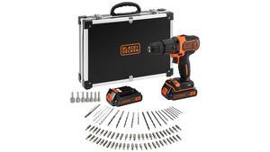 BLACK & DECKER set akumulatorska udarna bušilica i pribor 18 V - 2 akumulatora i 80 dijelni pribor - BDCHD18BAFC