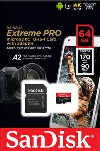 Memorijska kartica SanDisk Extreme Pro microSDXC 64GB + Adapter