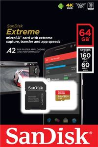 Memorijska kartica SanDisk Extreme microSDXC 64GB + SD Adapter