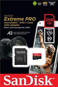 Memorijska kartica SanDisk Extreme Pro microSDHC / microSDXC 256GB + Adapter