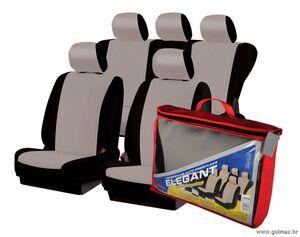 Auto presvlake Sivo/Crne - kvalitetne univerzalne ELEGANT za srednja i veća vozila