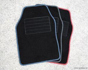 Auto tepih set standard (4 kom) Crveni rub