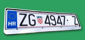PVC okvir tablica KROM B-model  (cijena za 1 kom)