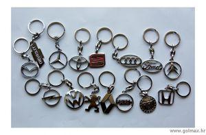 Privjesci za ključeve, metalni kromirani-Toyota