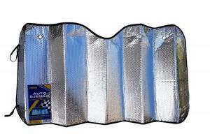 Dvostrano sjenilo protiv sunca standard 130x60 cm,srebrna
