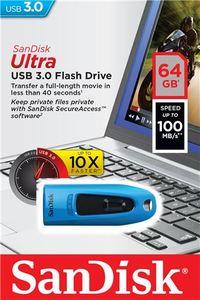 USB memorija Sandisk Ultra Ultra USB 3.0 Blue 64GB