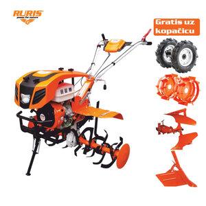 RURIS motorna kopačica 915ACC- 1 5 KS (gumeni kotači,noževi-freza,metalni kotači,plug okretni,podešavajući plug)