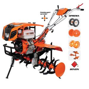 RURIS motorna kopačica 913ACC - 13 KS (gumeni kotači,noževi-freza,metalni kotači,plug okretni)