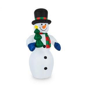 OneConcept Mr.Frost božićna dekoracija na napuhavanje, LED