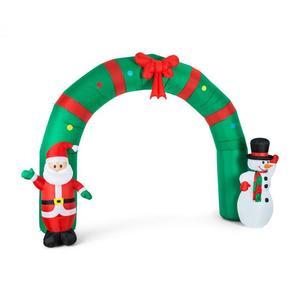 OneConcept Merry Welcome, 250 cm, božićna dekoracija na napuhavanje, božińa vrata, LED