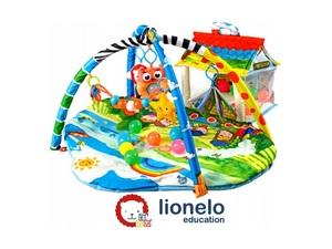 Lionelo dječja podloga za igru - edikativni madrac s igračkama + lopticama Imke