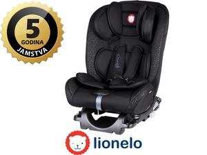 Lionelo autosjedalica Sander, 2x ISOFIX, 0-36Kg, crna