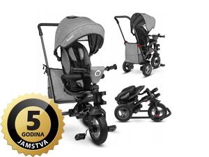 Lionelo tricikl Tris 2 u 1 sivi