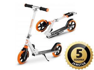 Lionelo romobil Luca, nosivost do 100Kg, za djecu i odrasle, bijeli