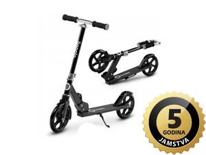 Lionelo romobil Luca, nosivost do 100Kg, za djecu i odrasle, crni