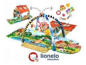 Lionelo dječja podloga za igru - edukativni madrac + dvorac s igračkama Agnes