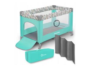 Lionelo dječji prijenosni krevetić Adriaa, jamstvo 5g, tirkiz/scandi