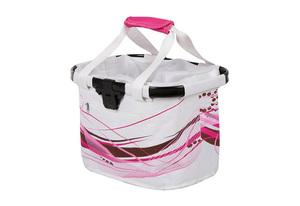 M-WAVE košara prednja/torba s nosačem White Fancy 20L