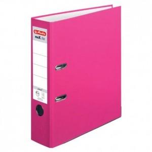 Registrator samostojeći A4, 8 cm, maX.file protect, Herlitz, rozi