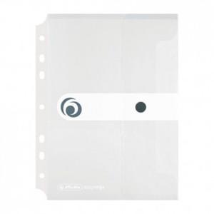 Kuverta s dugmetom, A5, uložna, polipropilen, bijela, Easy orga to go, Herlitz
