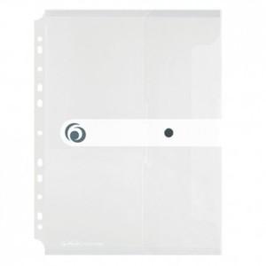 Kuverta s dugmetom, A4, uložna, polipropilen, bijela, Easy orga to go, Herlitz