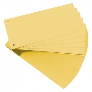 Pregrada kartonska 105 x 242 mm, 100/1, žuta, Herlitz