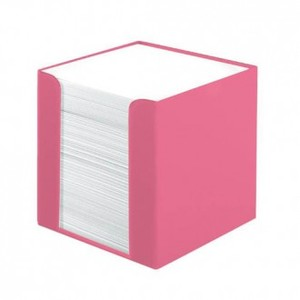 Stolna kocka s papirom Color Blocking,, PVC 9x 9 x 9 cm, roza 700 listova, Herlitz