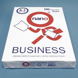 Papir fotokopirni bijeli A3 80 gr NANO BUSS.500/1